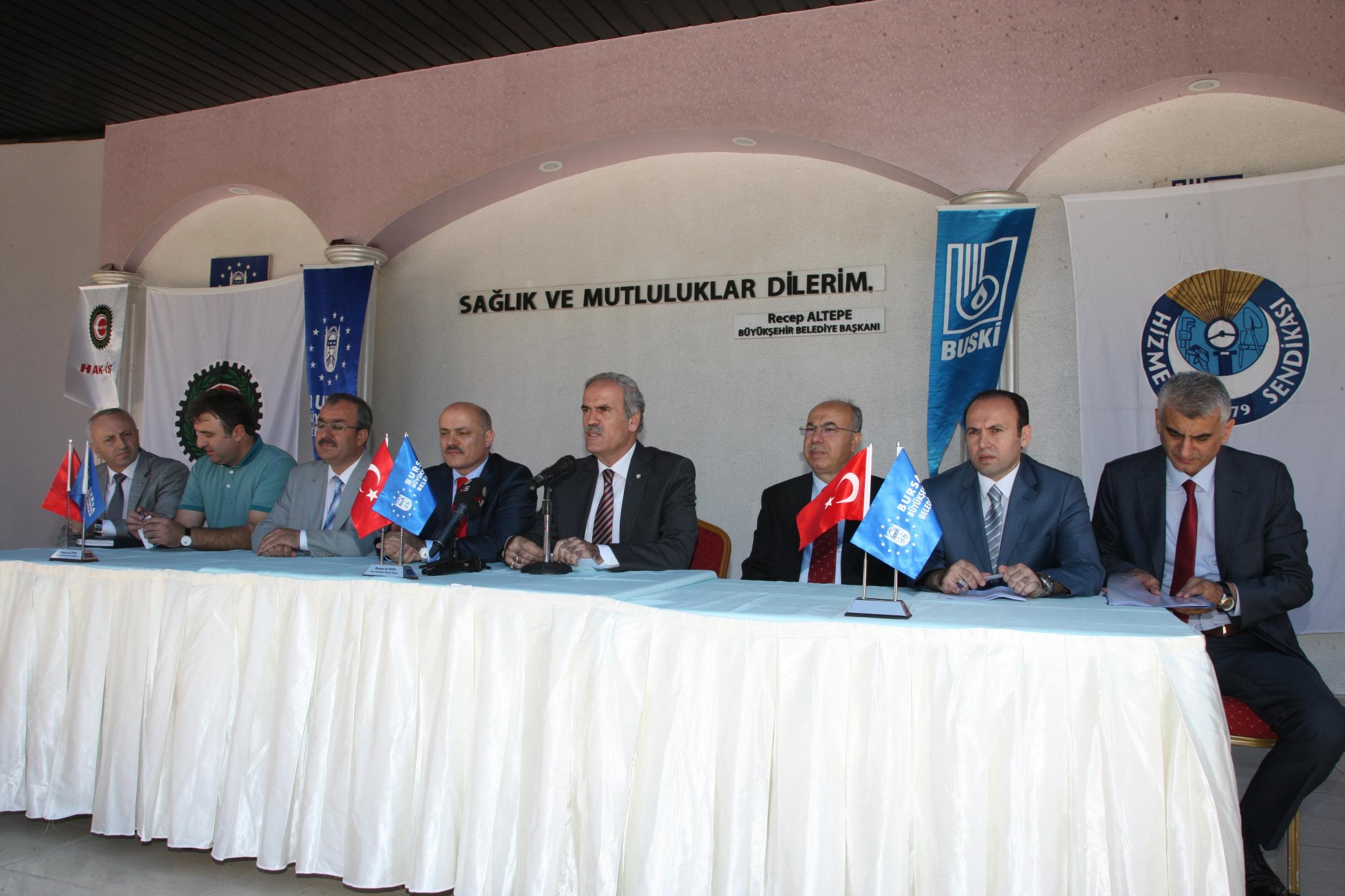 Bursa Büyükşehir ve BUSKİ'de Davul Zurnalı Tören